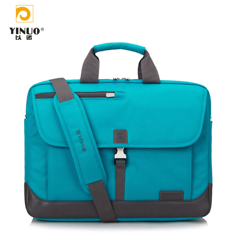 YINUO 15.6 inch Laptop Bag Messenger Bag Case Hand Bag Multi-compartment Briefcase Oxford Nylon Shoulder Bag for Notebook nec p401w