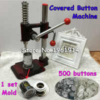 Fabric Covered Button Press Machine Handmade Fabric Self Cover Button Maker Machines 24#1.5cm Mold Tools 500 pcs buttons
