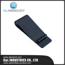 Real Blue Carbon Fiber M size – Genuine 3K Twill Credit  Business-Credit Card Cash Wallet Money Clip
