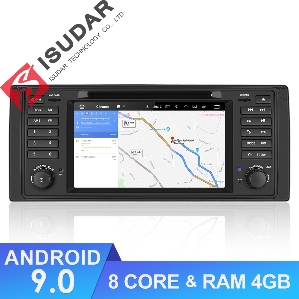 Isudar 1 Din Android 9 Auto Radio For BMW/E39/X5/E53 Octa Core RAM 4GB ROM 64GB GPS Car Multimedia Stereo System DSP DVD USB DVR