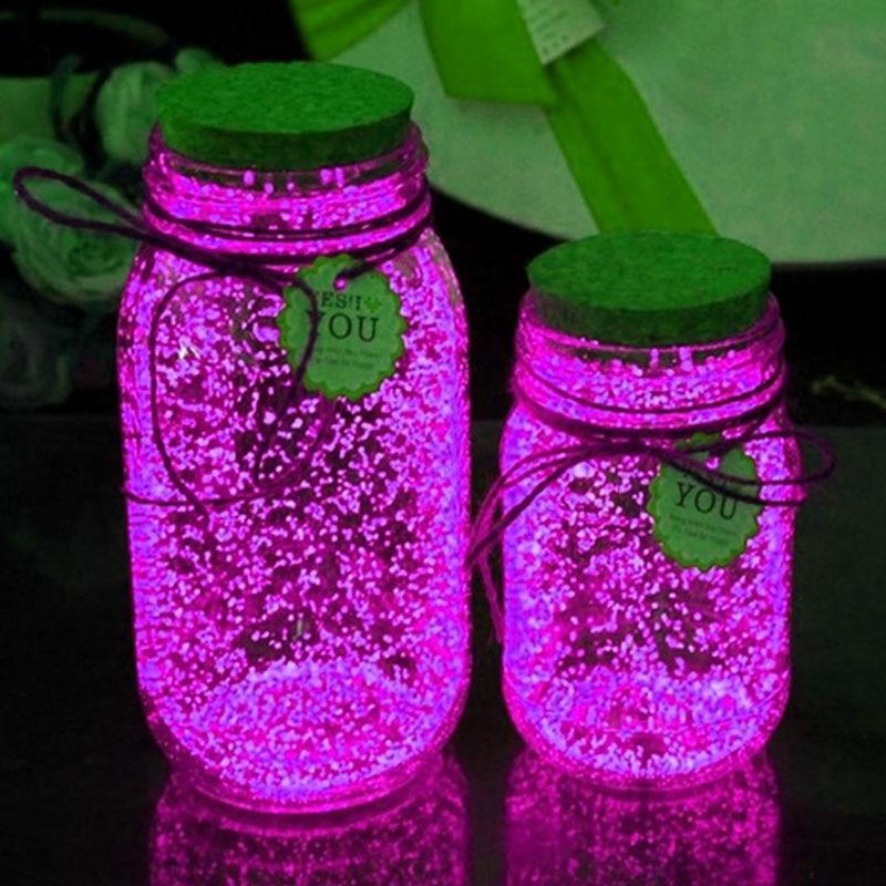 10g Luminous Party DIY Bright Glow in the Dark Paint Star Wishing Bottle Radiationless Fluorescent Powder Nail Glitter Romance luminous glow sand super bright noctilucent sand diy wishing sand 50g lot glow in the dark for wishing glass bottle