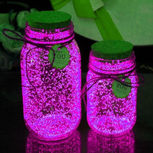 10g Luminous Party DIY Bright Glow in the Dark Paint Star Wishing Bottle Radiationless Fluorescent Powder Glitter Romance glow in the dark 10g luminous party diy bright paint star wishing bottle fluorescent particles brinquedos toys