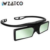 ¡WZATCO promoción! 4 unids/lote Universal profesional DLP enlace obturador activo 3D gafas para todos los DLP listo proyector 3D Z4000