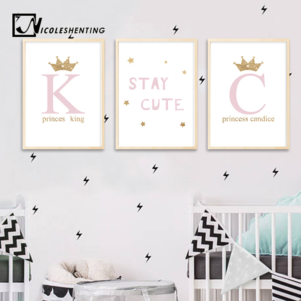 US $2.91 48% OFF|Custom Poster Wall Art Canvas Posters Nursery Quote Prints  Painting Wall Pictures Kids Baby Bedroom Decoration Modern Home Decor-in ...