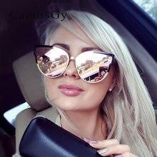 Ojo de gato de La Vendimia gafas de Sol de Diseñador de la Marca 2016 Nuevo de Las Mujeres de Oro Rosa gafas de Sol gafas de Marco de Metal de Moda de la Señora