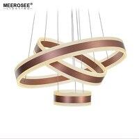 Современные 3 круга кольца светодио дный светодиодные подвесные светильники для гостиной столовой светодио дный LED Lustre розовое золото подв