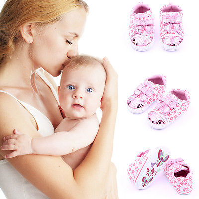 Classic leisure Toddler Baby girl Pink shoes Crib Shoes
