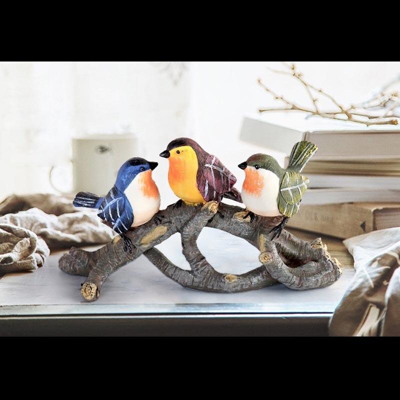 Креативная Смола милые птицы ветви деревьев украшения дома чайная церемония художественные фигурки офисные модные свадебные подарки ручн... - 5