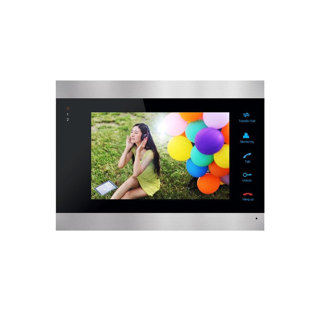 Homefong 7 pouces couleur LCD vidéo porte téléphone interphone système déverrouillage de la porte couleur sonnette caméra 600TVL Vision nocturne - 5