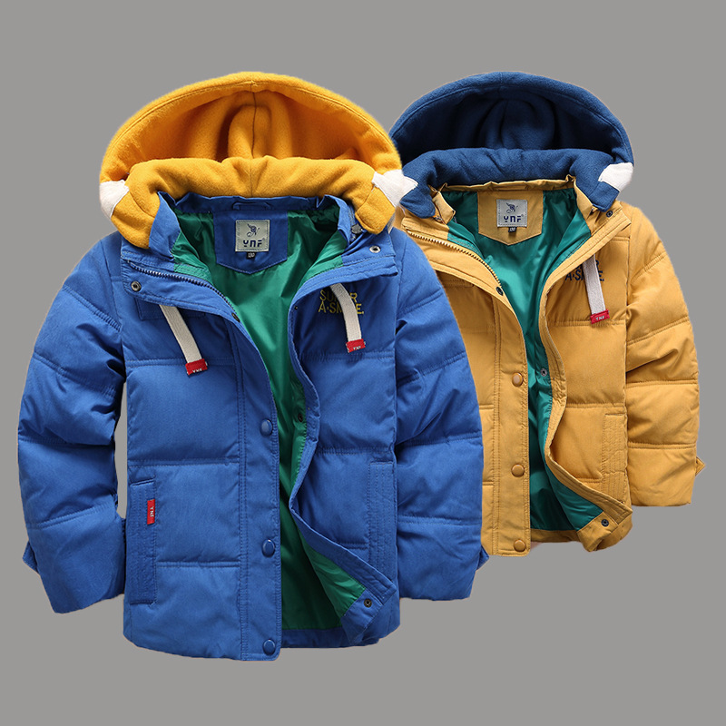 2017 New Children Boys Down Jacket for Winter Warm Clothes Christmas Hooded Kids Warm Coats 4 Color 2015 new arrive super league christmas outfit pajamas for boys kids children suit st 004
