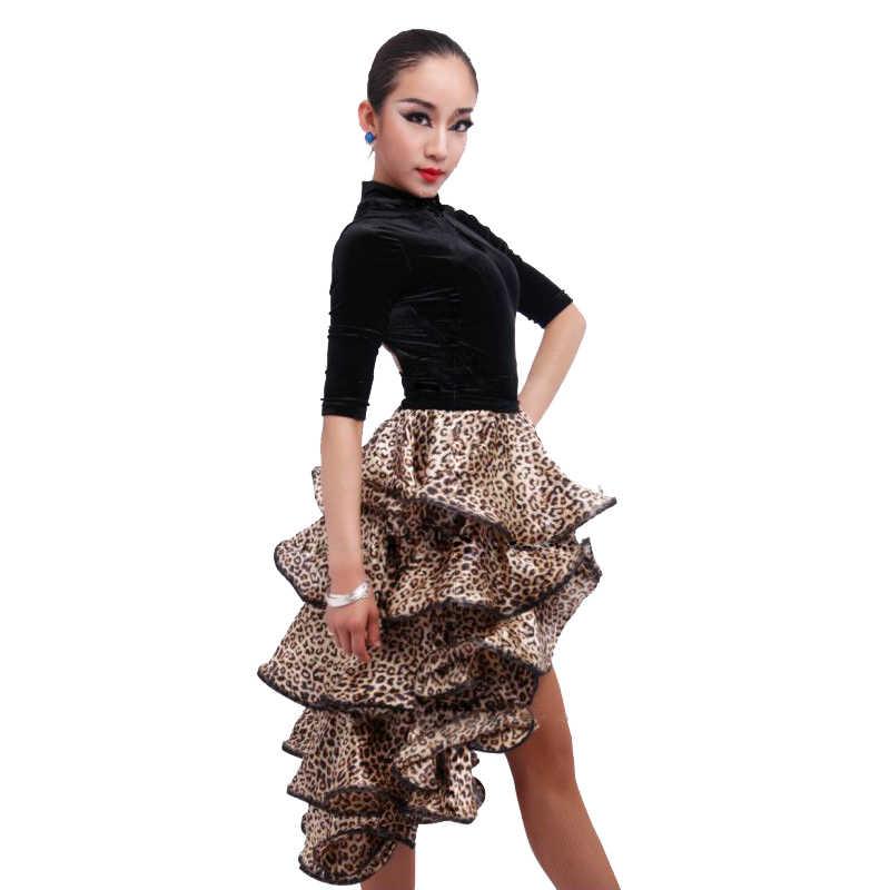 17 цветов, женское платье для латинских танцев, сальсы, Танго, юбка, костюм для выступлений для взрослых, детское бальное платье для танцев, Юбки Для корриды
