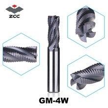 1 ADET ZCC. CT GM 4W serisi tungsten karbür 4 flüt end mills için yan freze oluklu kenar end mill kabalama freze kesiciler