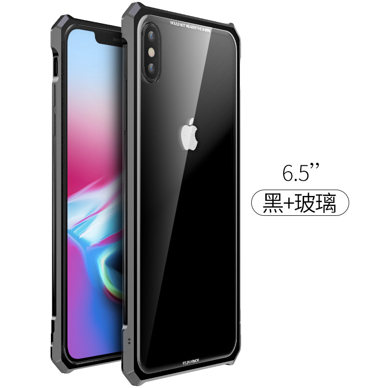 Image 4 - High end ultra thin metal frame Tempered glass mirror shell For  Iphone XS case cover FOR XS MAX FOR XR metal caseFitted Cases   -