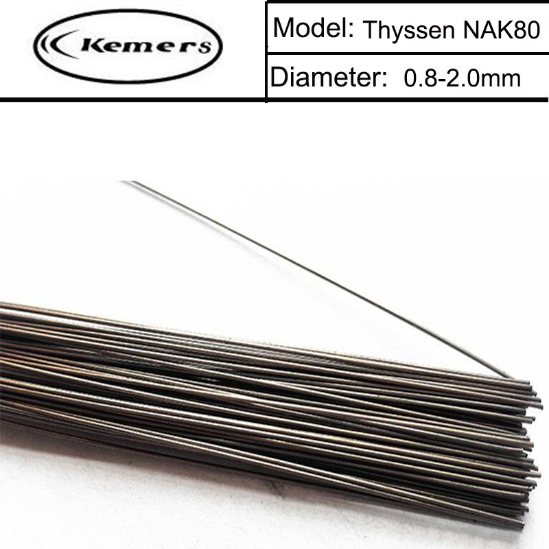 1KG/Pack Kemers Thyssen NAK80 TIG Welding wires&Repairing Mould Argon Soldering Wire for Welders (0.8/1.0/1.2/2.0mm) F066 professional welding wire feeder 24v wire feed assembly 0 8 1 0mm 03 04 detault wire feeder mig mag welding machine ssj 18