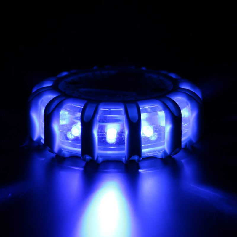 12* LED Emergency Safety Flare Red Road Flare Magnet Flashing Warning Night Lights Roadside Disc Beacon For Car Truck Boat