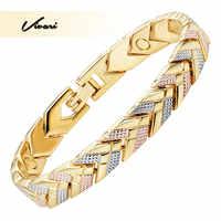 Vivari Bracelet magnétique de santé à la mode pour les femmes 3 tons couleur or couleur flèche bracelets porte-bonheur cadeau de mode nouveaux bijoux