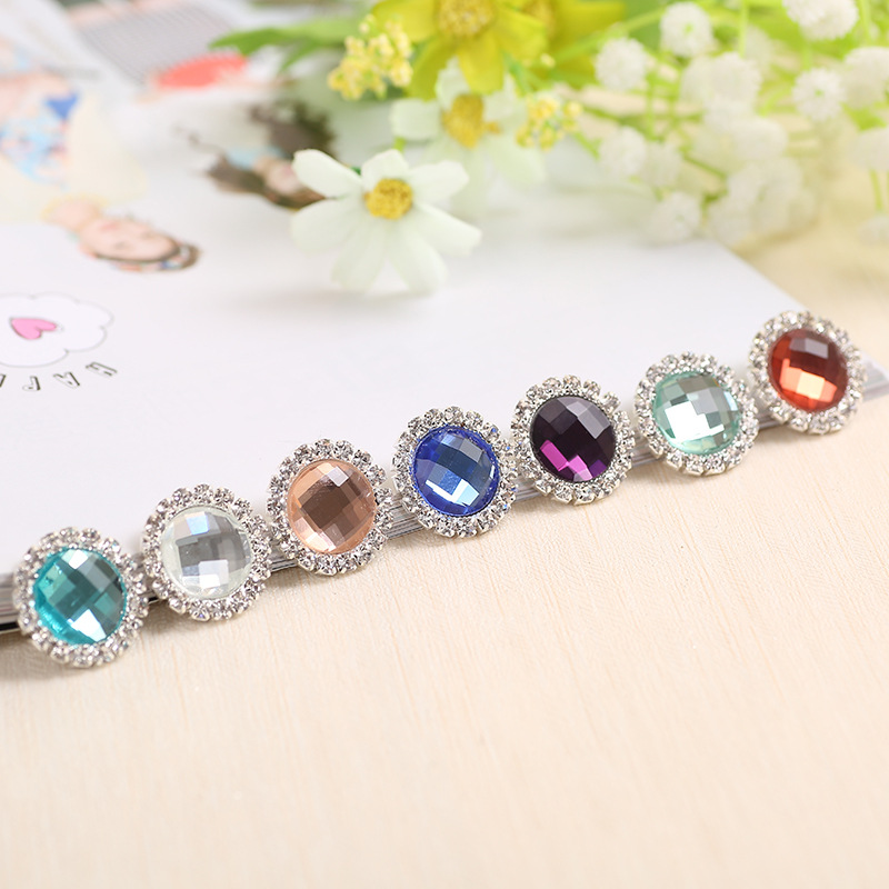 unids diy mm metal cristal rhinestone flatback botones adornos invitacin de la boda accesorio para