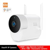 Xiaomi Xiaovv Smart 1080P Panoramic Camera Onvif Waterproof Outdoor IP Camera IR Night Vision Mijia App Control Wireless Camera