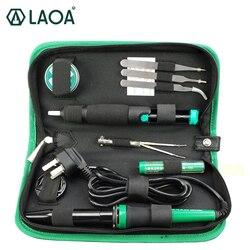 LAOA 30W 220V/110V Electric Soldering Iron Set Electronic Iron Kit Welding Gun Repair Tools with Solder Paste Tweezers Tin Wire
