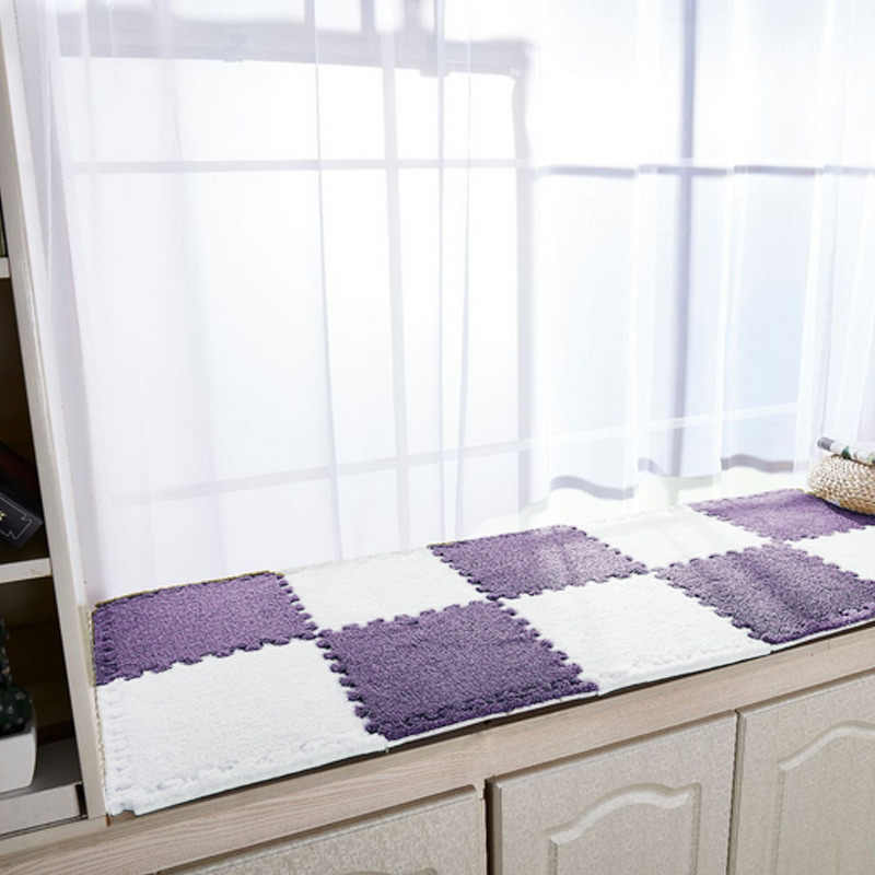 Urijk Eva フォームスエードカーペット子供ルームカーペットパッチワーク敷物キッズ泡パズルマットロング毛羽ベビーリビングルームのための 1 個