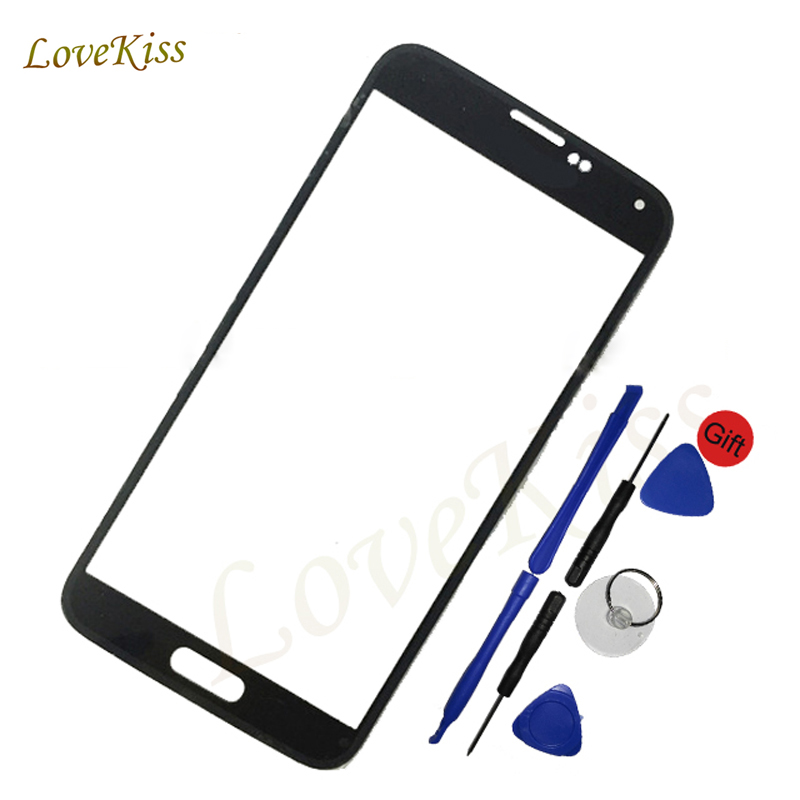 Touchscreen For <font><b>Samsung</b></font> <font><b>Galaxy</b></font> <font><b>S5</b></font> i9600 G900F G9008V G9006W Front Touch Screen Front Outer <font><b>Glass</b></font> Lens Cover <font><b>Replacement</b></font> Not LCD image