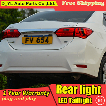 D_YL Car Styling for 2014 Corolla Taillights New Corolla Altis LED Tail Lamp Altis Rear Lamp DRL+Brake+Park+Signal led light
