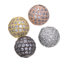 5pcs Supplies Jewelry Charm Zircon Ball Beads For Jewelry Making Diy Micro Pave Crafts Wholesale Czech Beads Bijoux Berloques