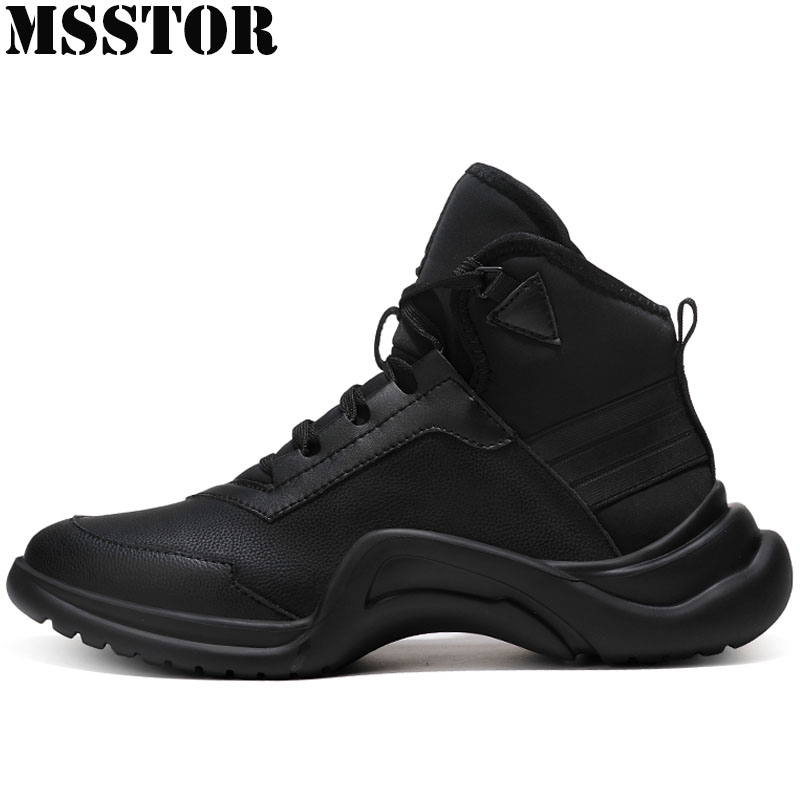 MSSTOR Men's Running Shoes Keep Warm Winter Sport Shoes Man Brand Casual Fashion Athletic Walking Sneakers For Male Plus Size 47