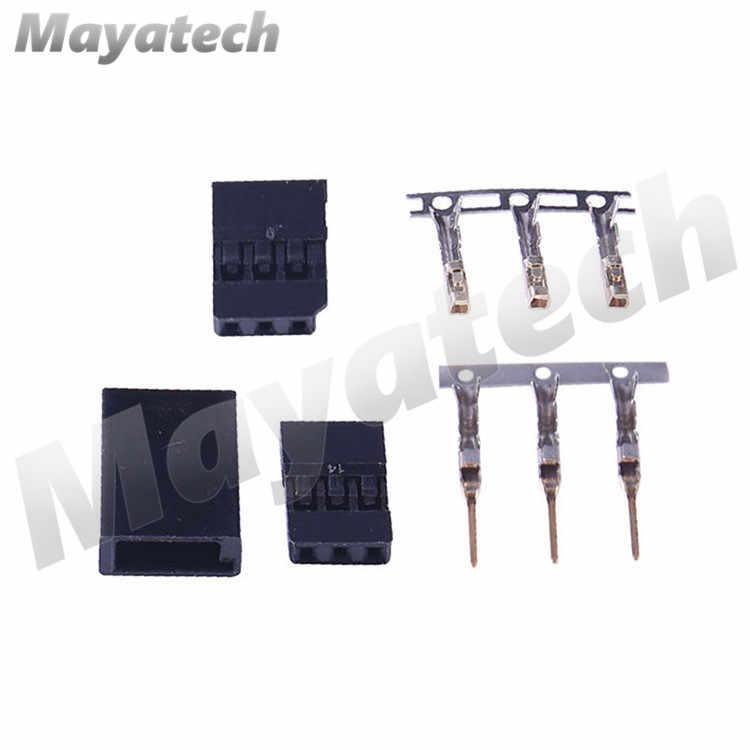 1 Set Compatible Futaba Set Male Female Connector Plug Gold Plated 3 Pin