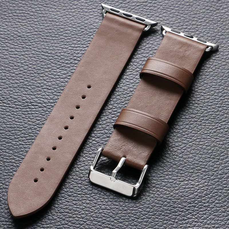 Fashion Brown Leather for Apple Watch Leather Band Strap watches Bands Men For Apple Smart Watches Watchbands Women canvas blue fashion watch band strap 20 22mm wrist watches replacement bands for men boy male bd0134