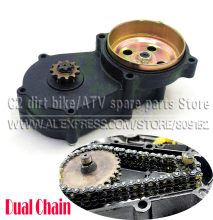T8F Dual Chain Clutch Gear Box Black 11 13 14 17 19 20 tooth For 43cc 47cc 49cc Mini Moto Pit Dirt Bike Quad ATV Buggy Go kart(China)