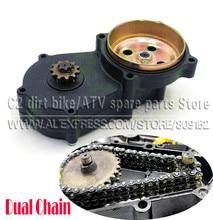 T8F двойной цепи Шестерня коробка черный 11 13 14 17 19 20 зуба для 43cc 47cc 49cc Мини Мото Пит Байк Quad ATV Багги Go kart
