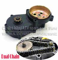 T8F Dual Kette Kupplung Getriebe Box Schwarz 11 13 14 17 19 20 zahn Für 43cc 47cc 49cc Mini Moto pit Dirt Bike Quad ATV Buggy Go kart