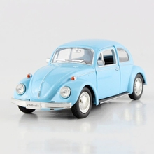 Freeshipping Children UNI-FORTUNE 1967 Volkswagen Beetle Model Car 1:32 5inch Diecast Metal Alloy Cars Toy Pull Back Kids Gift