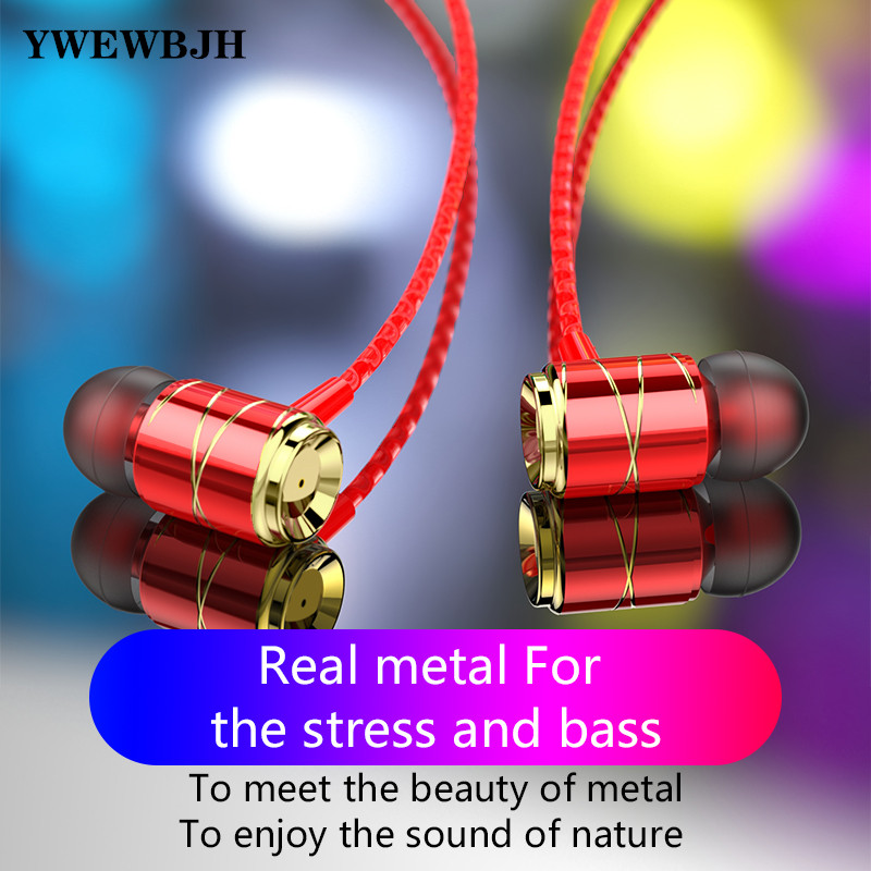 YWEWBJH ear Earphones 3 5mm For iPhone Huawei Xiaomi Computer Headsets Wired Earphone With Mic Earbuds Earpiece RD10 in Phone Earphones Headphones from Consumer Electronics