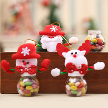 Fashion 2018 Cute Christmas Candy Storage Can Decor For Home Gift Biscuit Food Storage Jar drop ship(China)