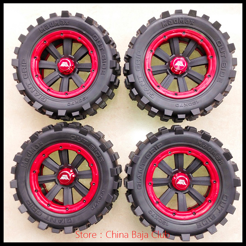 1:5 TRAXXAS X-MAXX Wheels Tire RC Monster truck Model MADMAX High quality tyres upgrade Rim 4pcs