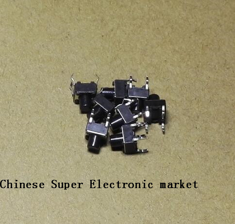 mini Switch Diodes Sporting 50pcs Tactile Push Button Switch 6x6x7mm 6*6*7mm Electronic Components & Supplies