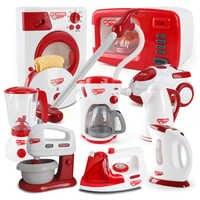 Haushalts Geräte Pretend Play Küche Kinder Spielzeug Kaffee Maschine Toaster Mixer Staubsauger Herd Spielzeug Für Kid Spielzeug