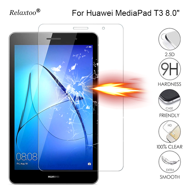 For huawei mediapad t3 tempered glass 8 8.0 inch tablet screen protector t 3 protect glas protective film protection glass 9H full covers 9h tempered glass for huawei mediapad t3 8 0 10 inch t1 7 0 8 0 inch t1 10 9 6 inch screen protector protective film