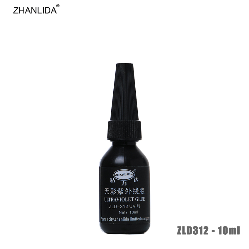 ZHANLIDA 312 10ML Ultraviolet UV Glue Transparent Metal Plastic Crafts Shadowless Rapid Solidification Glue High Adhesive