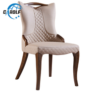 American style wood dining chair restaurant dining chairs modern simple dining room leather chair