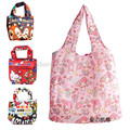 Reusable Shopping Bag Foldable Folding Grocery Bags Hello Kitty Alice Cheshire Cat Moomin Large Nylon Eco Friendly Tote Handbag