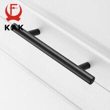 """KAK """"~ 24"""" кухонная дверь Т-образная тяга прямые ручки для шкафа диаметр тяги 10 мм ручки из нержавеющей стали Мебельная фурнитура"""