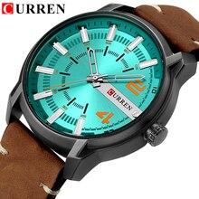 CURREN montre de sport militaire pour hommes, marque de luxe, montre bracelet en cuir, à Quartz, décontracté
