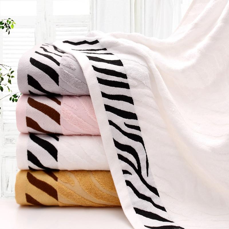 Best Discount #142e Bamboo Fiber Tiger Stripe Bath Towel