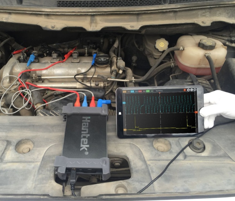 Hantek 6074BE Series Kit I 4CH 70MHZ Standard equipped over 80 types of automotive measurement function