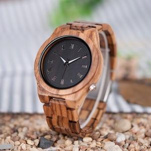 Image 4 - BOBO BIRD Mens Watches Luxury Brand Top Men Watch Relogio Masculino Wooden Wristwatches Timepieces W M30 DROP SHIPPING
