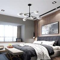 Designer de Loft Rotatória Cabeças Led Luminária Suspensão Luminárias de Arte Caso Simples Quarto Sala de estar Do Hotel Frete Grátis