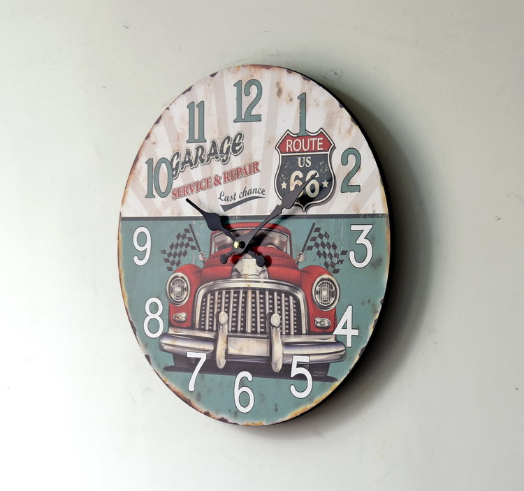 New Large Wall Clock Hot Home Decoration Continental Retro Vintage
